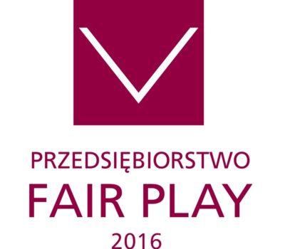 Certyfikat programu Fair Play 2016 dla TROTONU