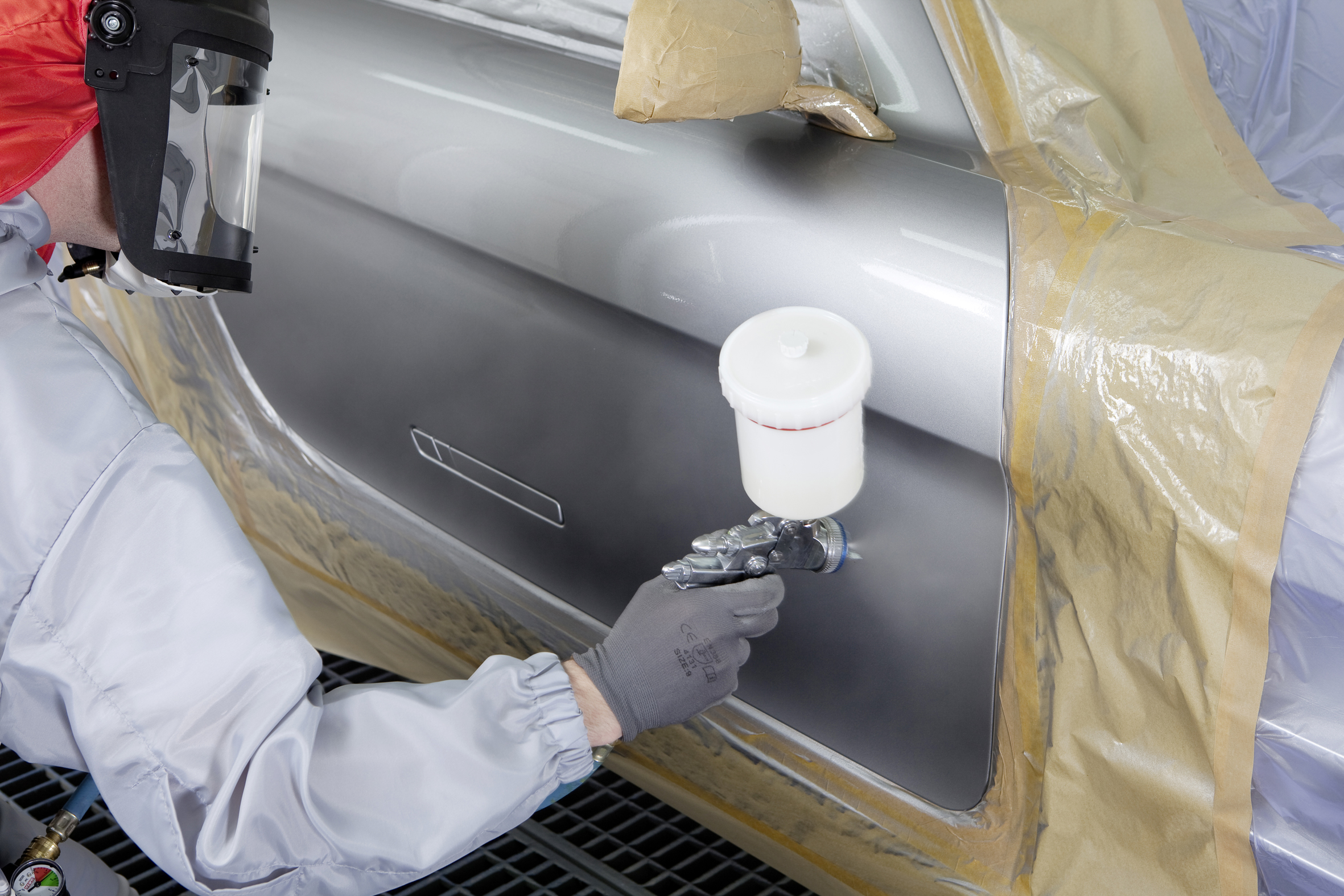 Spies Hecker car paint application - mottling control