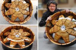 Drewniane felgi dla Flintstonów