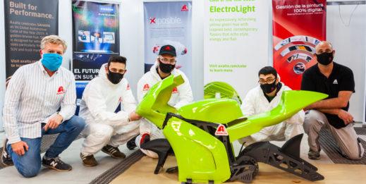 Nowatorski motocykl elektryczny w kolorze ElectroLight